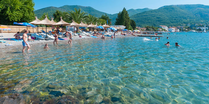 Beach in Tivat Montenegro