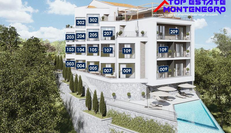 Эксклюзивные привлекательные новые апартаменты Mазина, Тиват-Топ недвижимости Черногории