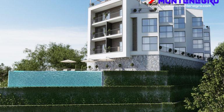 Привлекательные новые квартиры с видом на море Mазина, Тиват-Топ недвижимости Черногории