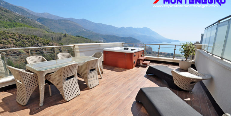 Apartment with fantastic sea view Becici, Budva-Top Estate Montenegro
