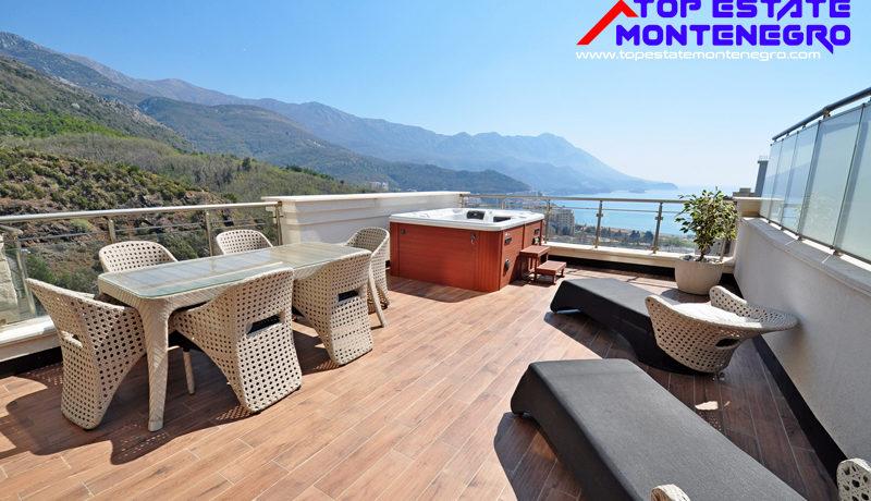 Apartment with fantastic sea view Becici, Budva-Top Estate Montenegro